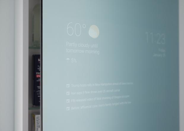 Сотрудник Google сделал из обычного зеркала умное
