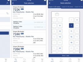 Ukrzaliznytsia developed railway tickets booking app for iOS