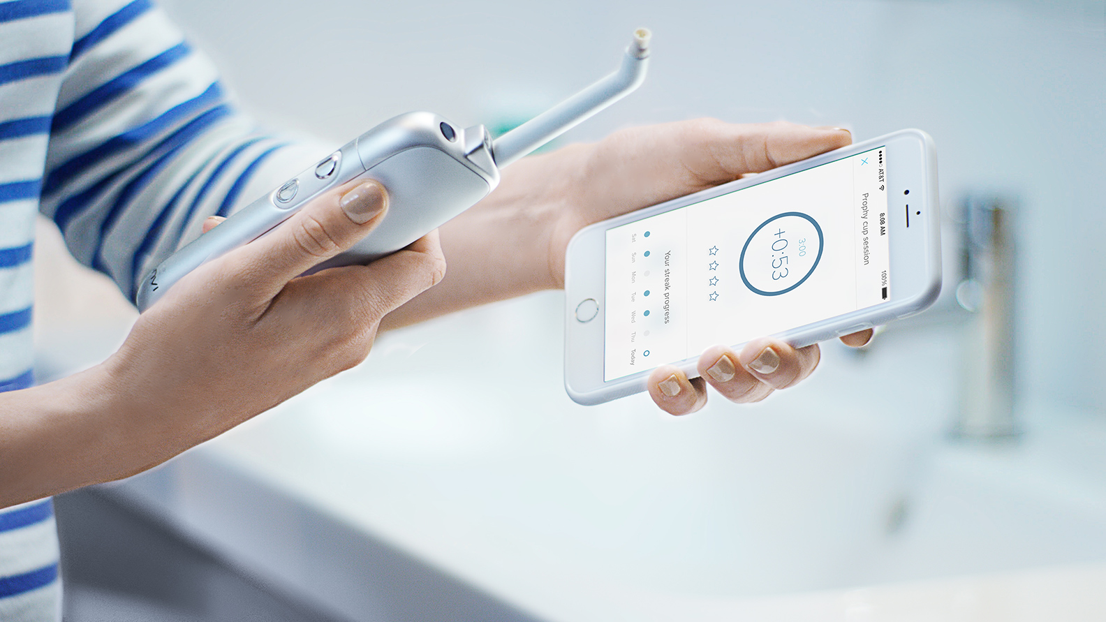 The Prophix smart toothbrush with camera